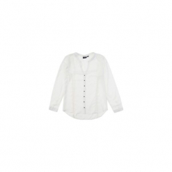 Bluzka tkanina klasyczna gładka. Szare bralety TXM, z tkaniny, klasyczne, z klasycznym kołnierzykiem. Za 39,99 zł.