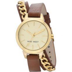 Zegarek Nine West Damski NW/2082CHBN Fashion Gold brązowy. Brązowe zegarki damskie Nine West. Za 311,70 zł.