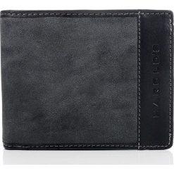 Portfele męskie: Czarny skórzany portfel męski DESTIN HAROLD'S