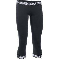 Spodnie damskie: Under Armour Legginsy Favorite Capri Hem Black Black White M