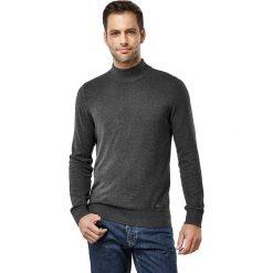 Golfy męskie: Sweter w kolorze antracytowym
