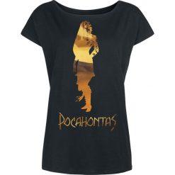 Pocahontas In The Woods Koszulka damska czarny. Czarne bluzki nietoperze Pocahontas, m, z dekoltem w łódkę. Za 79,90 zł.