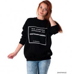 Bluza unisex z cytatem, Schopenhauer, Marzenia. Czarne bluzy z kieszeniami damskie Pakamera. Za 179,00 zł.