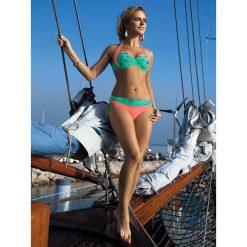 Stroje kąpielowe damskie: Bikini w kolorze miętowo-łososiowym