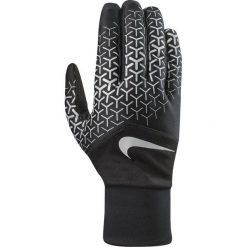 Rękawiczki męskie: Nike Rękawiczki męskie Printed Dri-fit Tempo 360 Run Gloves czarno-srebrne r. M
