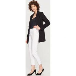 Spodnie z wysokim stanem: Spodnie z wysokim stanem – Biały