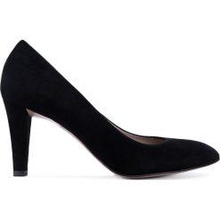 Czółenka ADEL. Czarne buty ślubne damskie Gino Rossi, ze skóry, z okrągłym noskiem. Za 299,90 zł.