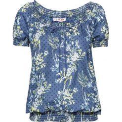 Tunika, krótki rękaw bonprix ciemnoniebieski w kwiaty. Niebieskie tuniki damskie w kwiaty bonprix, z krótkim rękawem. Za 54,99 zł.