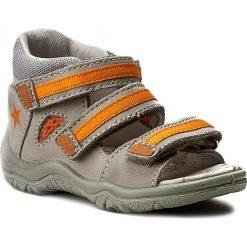 Sandały BARTEK - 41566/124 Szary. Szare sandały męskie skórzane Bartek. W wyprzedaży za 129,00 zł.
