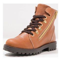 Buty zimowe damskie: Friboo Botki sznurowane brown