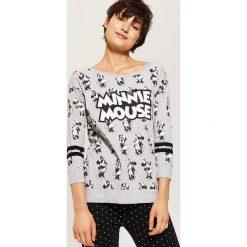 Koszulka piżamowa Minnie Mouse - Jasny szar. Czerwone koszule nocne i halki marki House, l, z motywem z bajki. Za 49,99 zł.