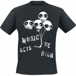 Music Gets Me High T-Shirt czarny. Czarne t-shirty męskie Music Gets Me High, xl. Za 62,90 zł.