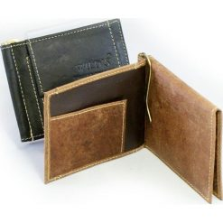 Portfele męskie: Portfel męski Wild – banknotówka skórzana 2 kolory skóry