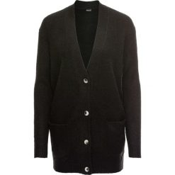 Kardigany damskie: Sweter rozpinany oversize bonprix czarny