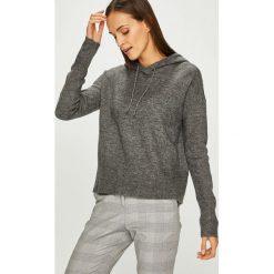Review - Sweter. Szare swetry klasyczne damskie marki Review, l, z tkaniny, z okrągłym kołnierzem. Za 129,90 zł.