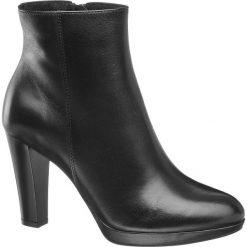 Botki damskie 5th Avenue czarne. Czarne botki damskie na obcasie 5th Avenue, z gumy, na zamek. Za 239,90 zł.