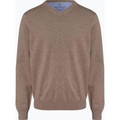 Fynch Hatton - Sweter męski, beżowy. Brązowe swetry klasyczne męskie Fynch-Hatton, m, z bawełny, z klasycznym kołnierzykiem. Za 249,95 zł.