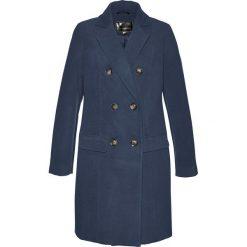 Płaszcz żakietowy bonprix ciemnoniebieski. Niebieskie płaszcze damskie bonprix. Za 189,99 zł.
