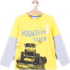 Koszulka. Szare t-shirty chłopięce z długim rękawem TRUCK, z bawełny. Za 29,90 zł.