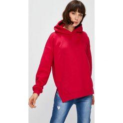 Answear - Bluza. Czerwone bluzy rozpinane damskie ANSWEAR, l, z bawełny, z kapturem. W wyprzedaży za 99,90 zł.