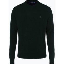 Polo Ralph Lauren - Męski sweter z wełny merino, zielony. Zielone swetry klasyczne męskie Polo Ralph Lauren, l, z haftami, z dzianiny, z klasycznym kołnierzykiem. Za 699,95 zł.