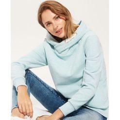 Polarowa bluza z kapturem - Turkusowy. Niebieskie bluzy polarowe marki House, l, z kapturem. Za 69,99 zł.