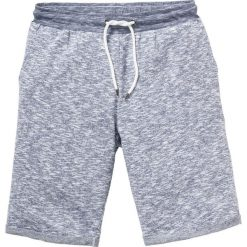 Bermudy dresowe melanż bonprix niebieski melanż. Niebieskie spodnie dresowe męskie bonprix, melanż, z dresówki. Za 59,99 zł.