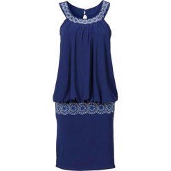 Sukienki hiszpanki: Sukienka koktajlowa bonprix kobaltowy