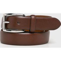 Polo Ralph Lauren - Pasek skórzany. Brązowe paski męskie Polo Ralph Lauren, w paski, z materiału. Za 299,90 zł.