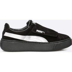 Puma - Buty Platfom Strap Satin. Czarne buty sportowe damskie Puma, z materiału. W wyprzedaży za 299,90 zł.