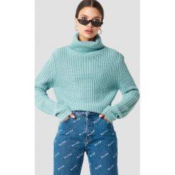 Swetry damskie: Rut&Circle Dzianinowy golf Tinelle - Turquoise
