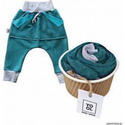 Odzież dziecięca: Spodnie baggy kangurek aqua