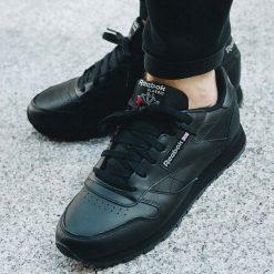 Buty Reebok Classic Leather  (3912). Czarne buty sportowe damskie reebok classic marki Reebok, z materiału. Za 265,99 zł.