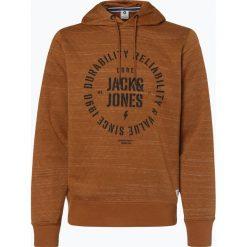 Jack & Jones - Męska bluza nierozpinana – Jcojaso, niebieski. Czarne bluzy męskie z nadrukiem marki Jack & Jones, l, z bawełny, z okrągłym kołnierzem. Za 129,95 zł.