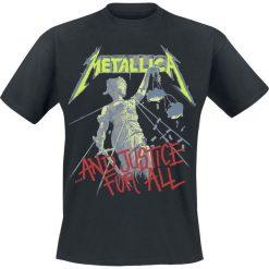 Metallica Justice Tracks T-Shirt czarny. Czarne t-shirty męskie z nadrukiem Metallica, m, z dekoltem na plecach. Za 89,90 zł.
