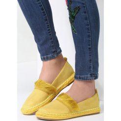 Żółte Espadryle To The Middle. Żółte espadryle damskie marki Born2be, moro, na płaskiej podeszwie. Za 59,99 zł.