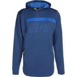 Bejsbolówki męskie: Under Armour TECH TERRY GRAPHIC HOODIE Bluza z kapturem moroccan blue