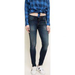 Lee - Jeansy Jodee Blue. Niebieskie jeansy damskie rurki marki Lee, z bawełny. W wyprzedaży za 229,90 zł.