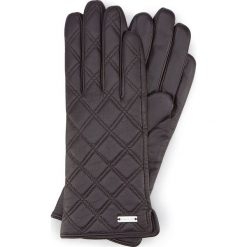 Rękawiczki damskie 39-6-561-BB. Brązowe rękawiczki damskie marki Wittchen, w geometryczne wzory. Za 99,00 zł.