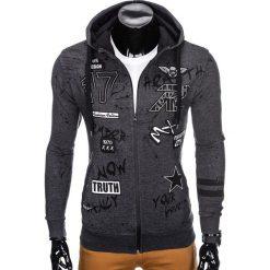 Bluzy męskie: BLUZA MĘSKA ROZPINANA Z KAPTUREM B806 - GRAFITOWA