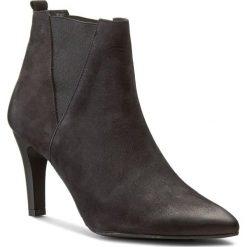 Botki CARINII - B3735 360-000-PSK-B95. Czarne buty zimowe damskie Carinii, z materiału, na obcasie. W wyprzedaży za 249,00 zł.