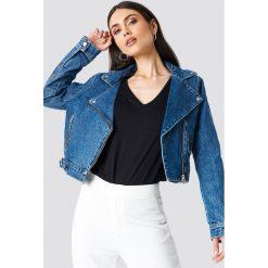 NA-KD Trend Kurtka jeansowa Biker - Blue. Niebieskie bomberki damskie NA-KD Trend, z jeansu. Za 242,95 zł.