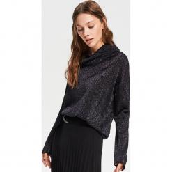 Sweter z szerokim golfem - Czarny. Czarne golfy damskie marki Reserved, l. Za 59,99 zł.