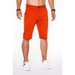 KRÓTKIE SPODENKI MĘSKIE CHINO P520 - CEGLASTE. Czerwone szorty męskie Ombre Clothing, eleganckie. Za 39,00 zł.