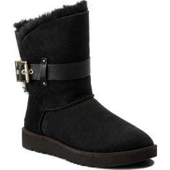 Buty UGG - W Jaylyn 1018628 W/Blk. Szare buty zimowe damskie marki Ugg, z materiału, z okrągłym noskiem. Za 989,00 zł.