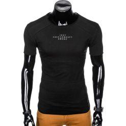 T-SHIRT MĘSKI Z NADRUKIEM S950 - CZARNY. Czarne t-shirty męskie z nadrukiem marki Ombre Clothing, m. Za 29,00 zł.