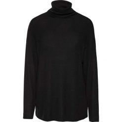 Miękki sweter z golfem bonprix czarny. Czarne golfy damskie bonprix, z długim rękawem. Za 99,99 zł.