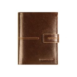 Portfele męskie: Skórzany portfel w kolorze brązowym – (S)10 x (W)13 cm