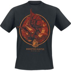 Monster Hunter World - Screaming Rathalos T-Shirt czarny. Czarne t-shirty męskie z nadrukiem Monster Hunter, xxl, z okrągłym kołnierzem. Za 74,90 zł.