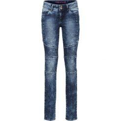 Dżinsy SKINNY ze szwami dzielącymi bonprix ciemny denim. Niebieskie jeansy damskie marki House, z jeansu. Za 129,99 zł.